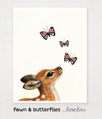 Fawn and Butterflies – Love, Lis x