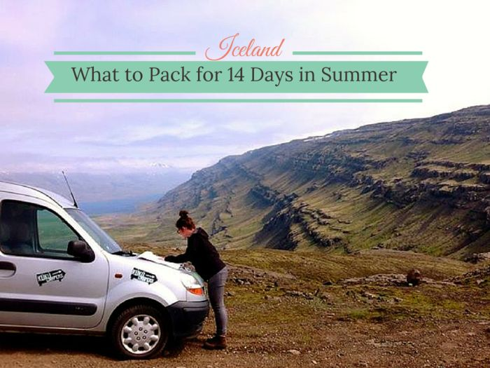 Iceland can be a tricky country when comes the time to pack for your trip.Is it very cold? What's the weather's like in summer? Let me simplifyyour planninganswering this question: What to pack for Iceland in Summer? This list is made for a 14 Days...