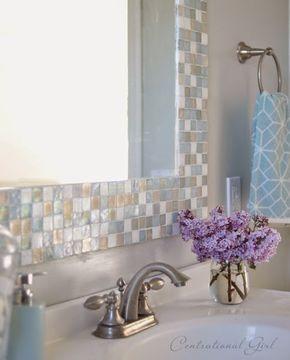 DIY Espejo de mosaico para el cuarto de baño | Decorar tu casa es facilisimo.com