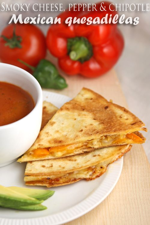 Best 25 mexican quesadilla ideas on pinterest mexican food mexico easy cheesy smoky pepper and chipotle mexican quesadillas teamed with gloriousfoods mexican tomato forumfinder Gallery