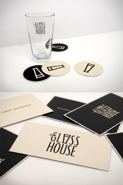 Carte De Visite Design Forme Sous Verre Original Pour Metier Du Vin