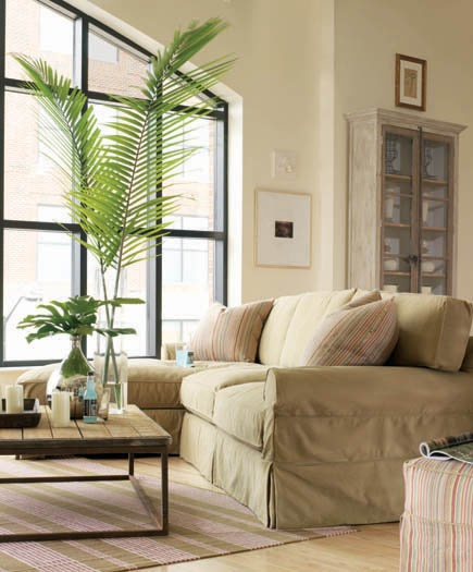 Leeu0027s Coveralls Series Of Slipcovers Provide Comfortable And Casual Design  Solutions For Cottage Living.