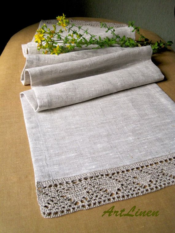 Linen table runner Coffee table runner Rustic home by ArtLinenShop