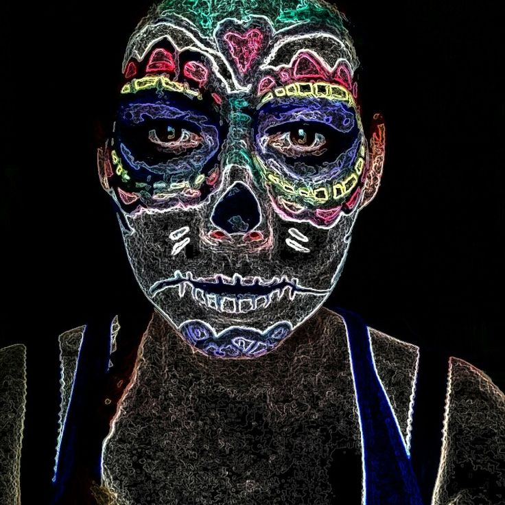 Model Nicole. Day of dead inspiration.
