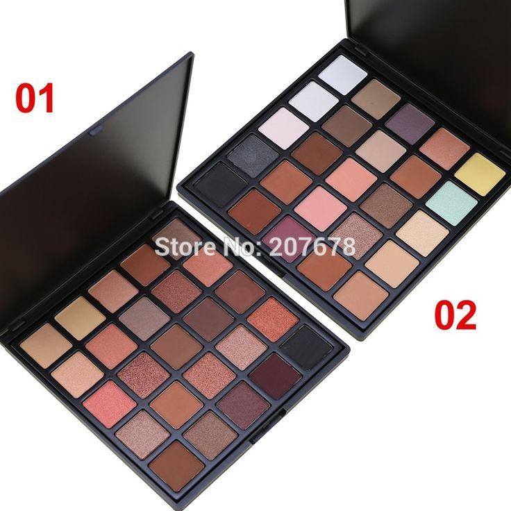 Professional 25 Color Eyeshadow Palette Natural Matte Shine Eye Shadow Smoky Make up Pallete Set Makeup Silky Powder