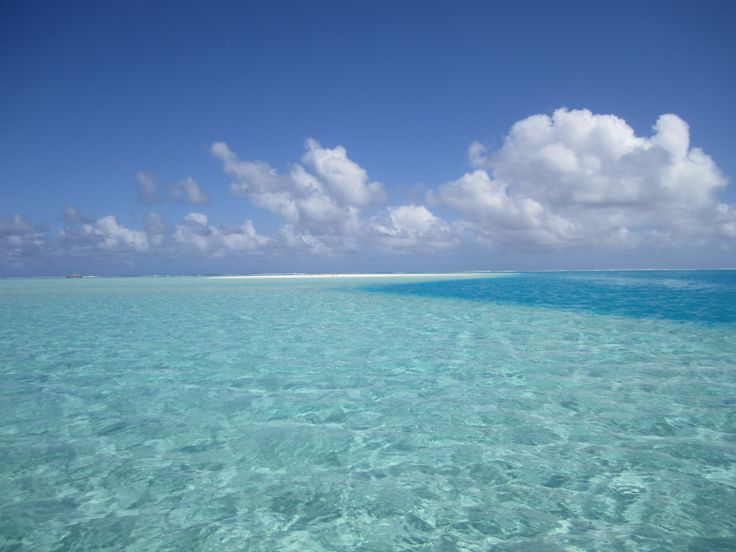 Simply Breathtaking! Aitutaki Lagoon with lovely clouds floating by!   #CookIslands #Aitutaki #Vacation