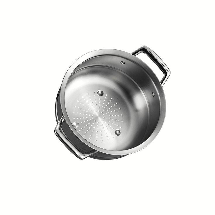 Amazon.com: Tramontina 80101/018DS Gourmet Prima Stainless Steel Steamer Insert (24cm - Fits 5 qt Dutch Oven, 6 Qt Sauce Pot & 8 Qt Stock Pot), 10 inch, Made in Brazil: Kitchen & Dining