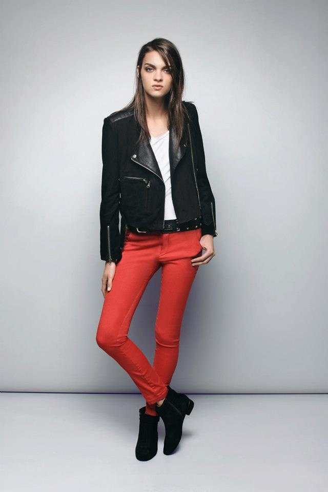 Campera de cuero + chupín.: Abrigo 2013, Autumn-Winter 2013, Red Jeans, Jeans Black, 2013 Abrigo, Campera De, Ayr, Campera Tigr, Black Jackets