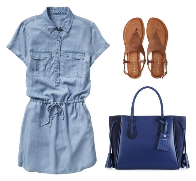 mom by luziagalvang on Polyvore featuring moda, Gap, Aéropostale and Longchamp