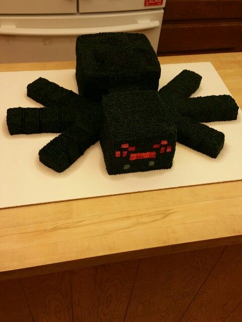 Minecraft Spider Cake Minecraft Party Pinterest