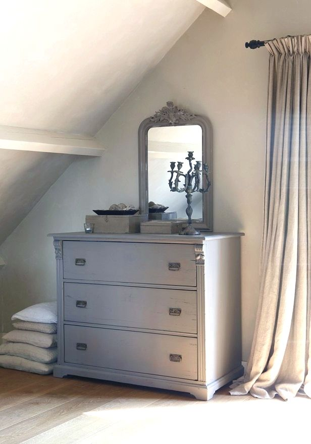 Small spaces - a smaller sized dresser, with 3 roomy drawers and a nice sized mirror to match!