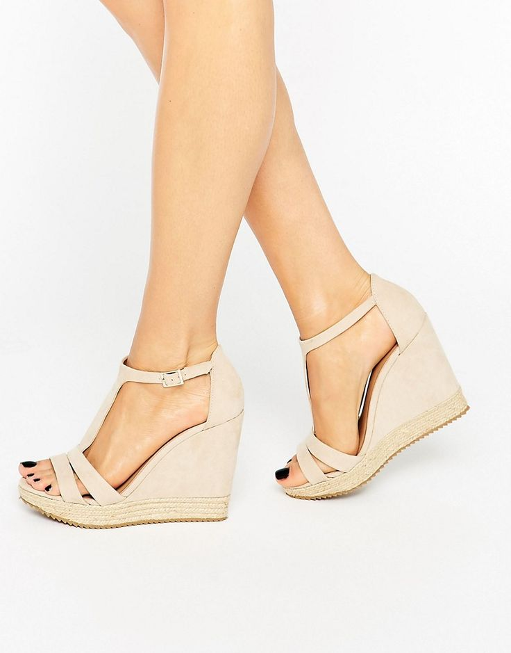 Image 1 of Call It Spring Gralia T-Bar Wedge With Rope Detail