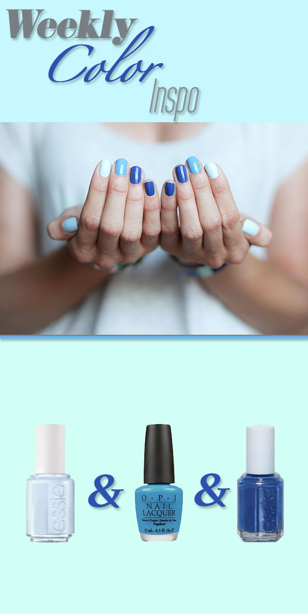 Ombre Blues Weekly Mani