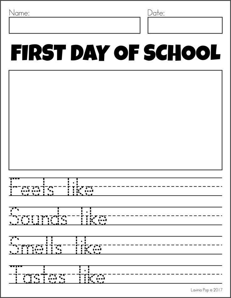 FREE Writing Journal Prompts SAMPLER. First Day of School simile poem.