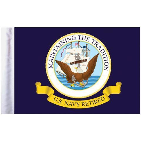 U.S. Navy Retired Pro Pad Motorcycle Flag