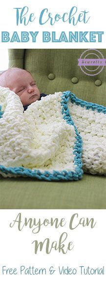 Easiest Ever Crochet Baby Blanket | Works up in a couple of hours | Free Pattern & video tutorial from Sewrella: