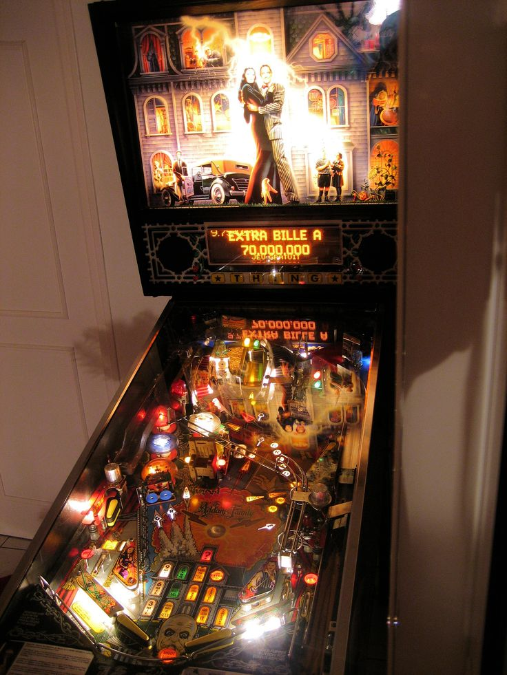 The Addams Family Pinball Machine which is the best selling pinball machine of all time.