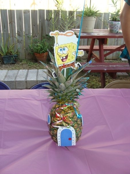 Second Birthday Spongebob Centerpiece Sky S Bday Party
