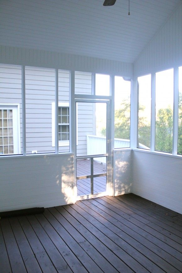 Screened Porch Pictures | The Porch Is Finally Painted White And Screened  In!