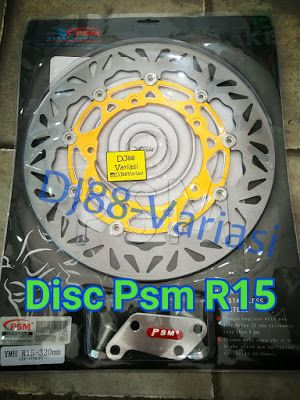 Disc cakram psm r15 titanium piringan disc brake tapak lebar 320mm