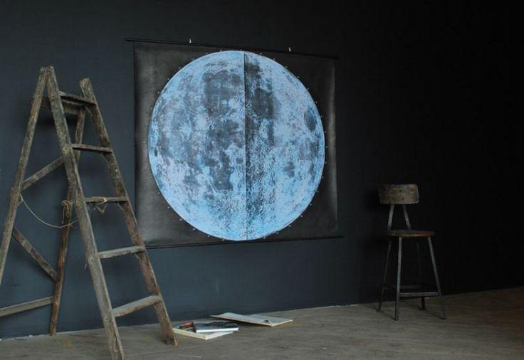 Very Large Moon Chart (signed) via Etsy.: Decor, Charts, Moon Print, Ideas, Moon Chart, Chart Signed, Large Moon, The Moon
