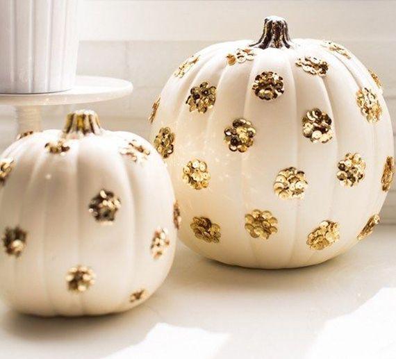 DIY sequin polka dot pumpkins by Sugar & Cloth | 100 Layer Cakelet