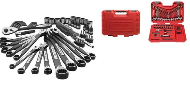 Craftsman Tools Set w/ Case 56 Piece Mechanics Ratchet Sockets Torque Wrenches #CraftsmanHardwareSet