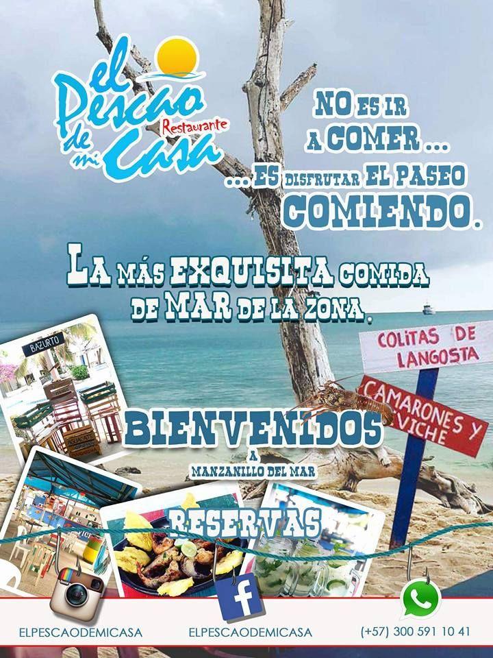 Si visita Cartagena no dejes de conocer y deleitarte de la mejor comida de mar!!!!! con un hambiente caribeño y tropical!!!! Cola de Langosta, Langostino, Pescado, Casuelas, Sopa, Ceviche, Patacon!!!
