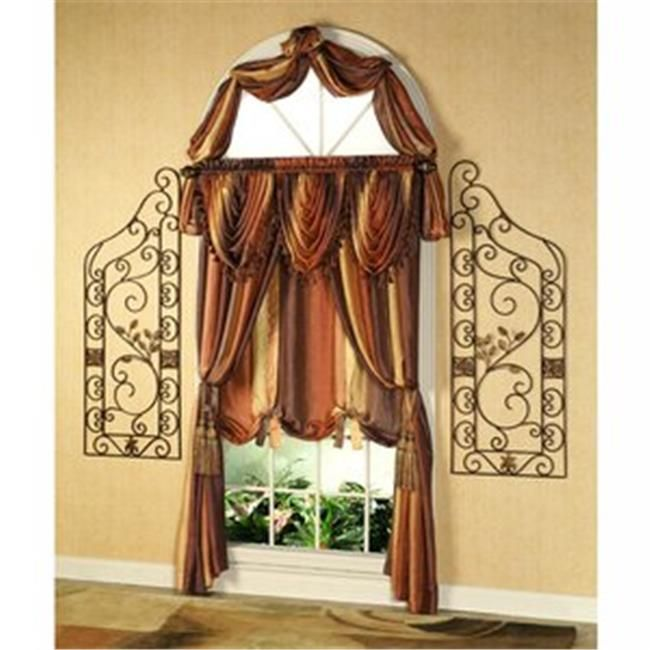 Achim Omsf144at6 Ombre Scarf Valance 50 X 144 Inches Autumn Tie Up Shades Home Furnishings Valance Curtains