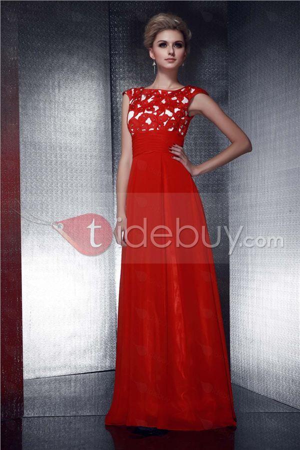 Graceful Empire Waist Appliques Jewel Neckline Floor-Length Dasha's Mother of the Bride Dress