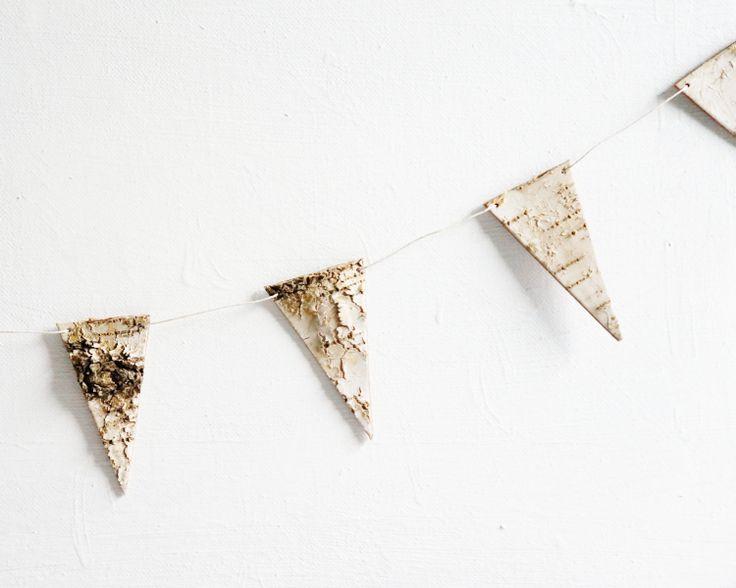 Garland+Birch+Bark+Pennant+Bunting+Free+by+sesameandsparrow,+$18.00