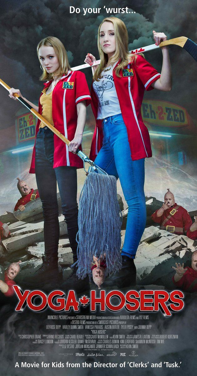 Directed by Kevin Smith.  With Lily-Rose Depp, Harley Quinn Smith, Johnny Depp, Adam Brody. Two teenage yoga enthusiasts team up with a legendary man-hunter to battle with an ancient evil presence that is threatening their major party plans.