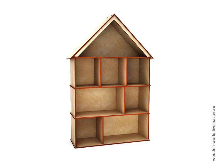Кукольный домик большой из фанеры 6 мм - домик,игрушка,Мебель,мебель из дерева