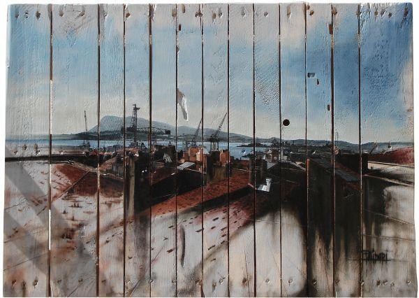 Marc Polidori - Painting on Wood - Colorida Art Gallery