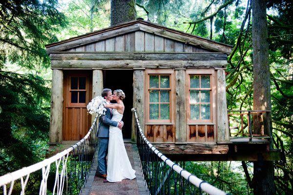 TreeHouse Point// tree house wedding