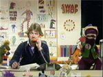 1976 - 1982 (UK) The Multi-Coloured Swap Shop (aka Swap Shop), was broadcast on Saturday mornings on BBC1 for 146 episodes in six series between 1976 and 1982. It was ground-breaking in many ways. Firstly, it was broadcast live, sometimes for up to three hours. Secondly, it introduced the now hugely popular phone-in format for the first time on TV. Swap Shop was thought by many to be the BBC's response to the growing success of ITV's Tiswas, hosted by Chris Tarrant, although at