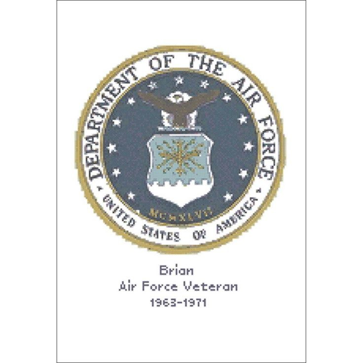 "U.S. Air Force Emblem Counted Cross Stitch Kit-12""X9.5"" 14 Count"