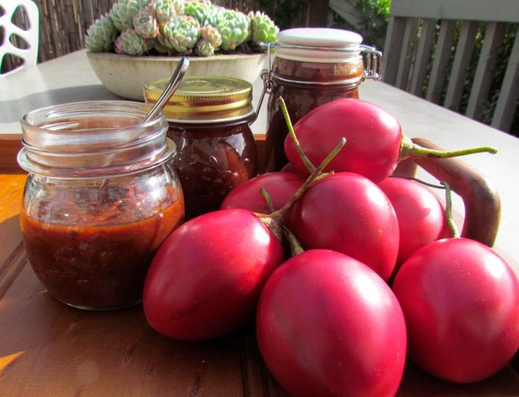 Traditional Tamarillo Chutney recipe from 5+ A Day