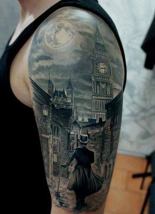 Amazing Victorian sleeve tattoo!