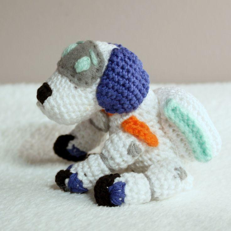 Amigurumi Robo-dog #amigurumi #amigurumis #pawpatrol #paw #patrol #psi #patrol #psipatrol #szydełkowanie #crochet #dogs #robodog