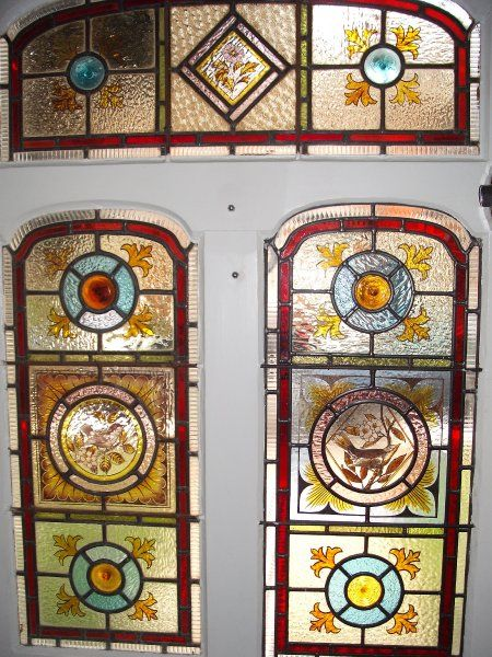 17 best images about stained glass front doors on for Victorian stained glass window film