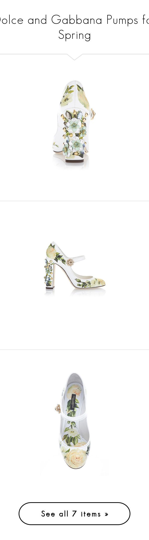 """""""Dolce and Gabbana Pumps for Spring"""" by tara108 ❤ liked on Polyvore featuring shoes, pumps, white mary jane pumps, t-strap mary janes, mary jane shoes, mary-jane shoes, white mary jane shoes, sapato, white patent leather pumps and white patent leather shoes"""