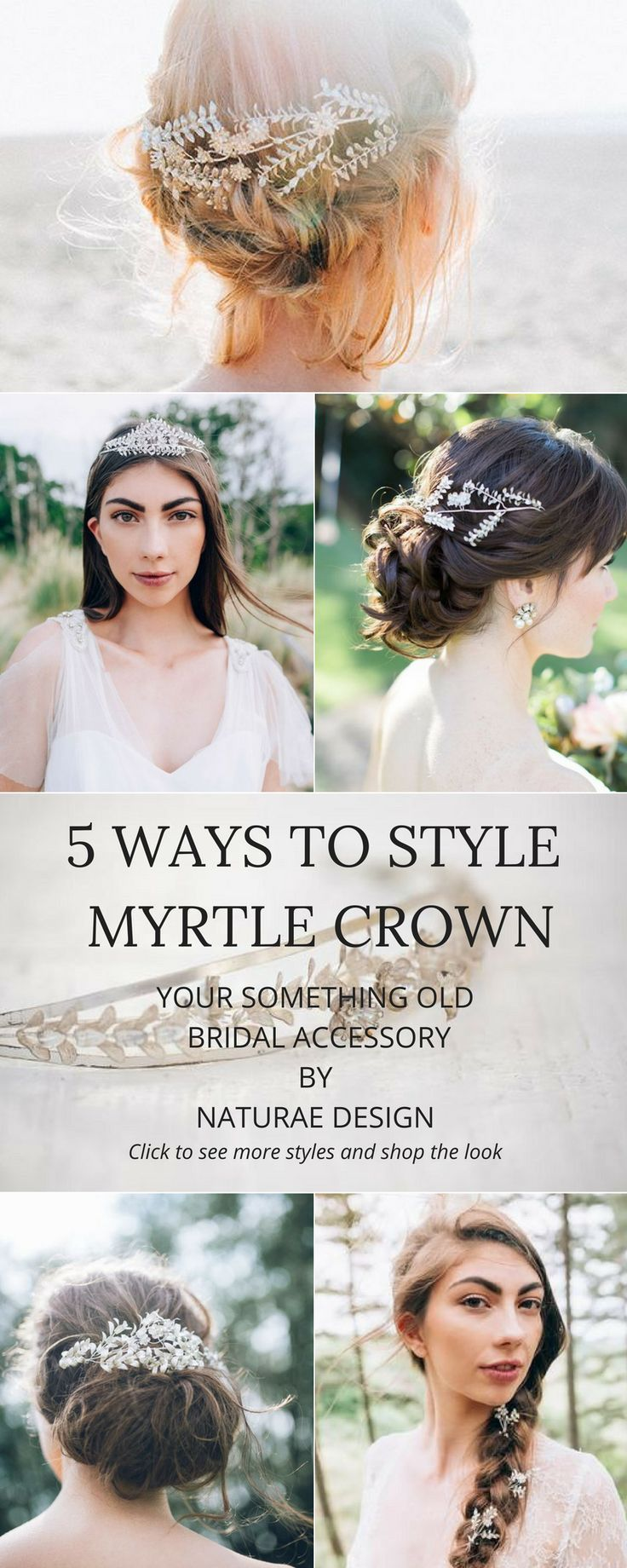 Antique Myrtle Crowns curated and restored by Naturae Design. Myrtle leaves and flowers are commonly worn and used for adornment in weddings throughout ancient Europe. It's a symbol of love and fertility associated with goddesses Aphrodite and Demeter. Th