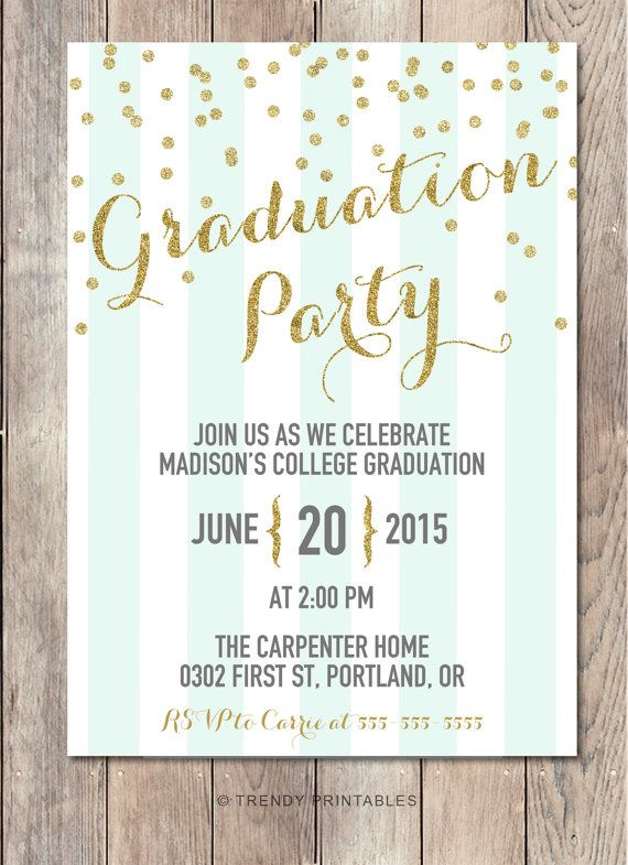 graduation party invitation graduation party grad party invite