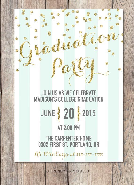 Invito festa di laurea feste di laurea Grad di TrendyPrintables