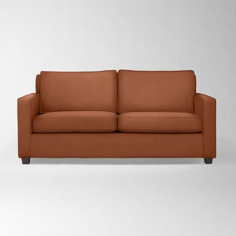Henry Sofa West Elm Faux Suede Paprika For The Home