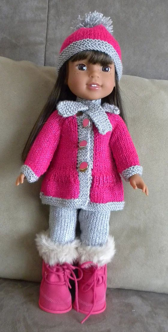 Dollie Clothes Crochet Knit Free Ag Patterns Knitted