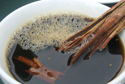 Traditional Mexican coffee is brewed with cinnamon, cloves, and hard cones of brown sugar called piloncillo. Coffee lovers enjoy this sweet brew at home, and in restaurants and coffee houses all over Mexico.