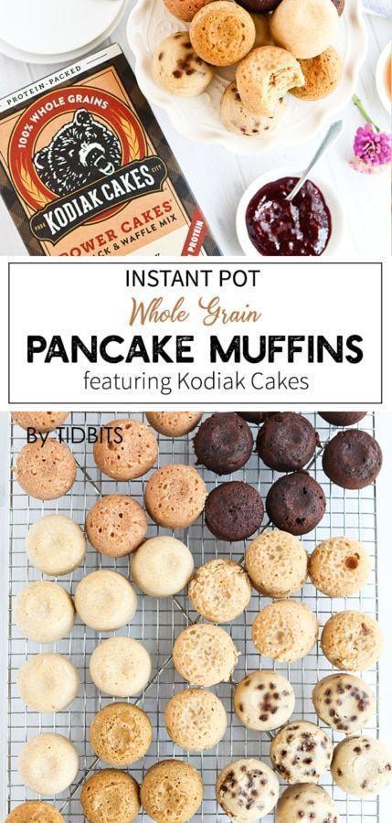 Instant Pot Whole Grain Pancake Muffins