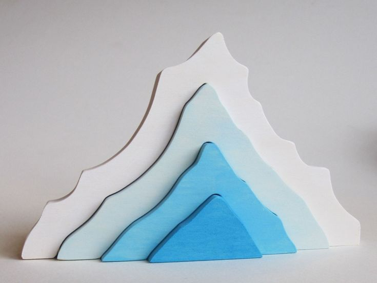 Iceberg Stacking toy- Natural Wooden Toy- Imagination Kids. $14.00, via Etsy.